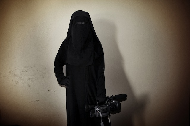 """Tanya Habjouqa, from the series """"Women of Gaza."""" Caption: """"Deema Aydieh is determined to pursue her career in journalism, against the odds."""""""