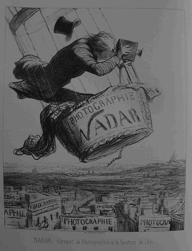 "Honoré Daumier, ""Nadar elevates (1853) (image via Wikimedia)"