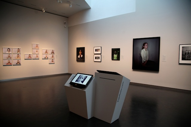 Interior of the exhibition at the Nelson-Atkins Museum of Art. Click to view larger.