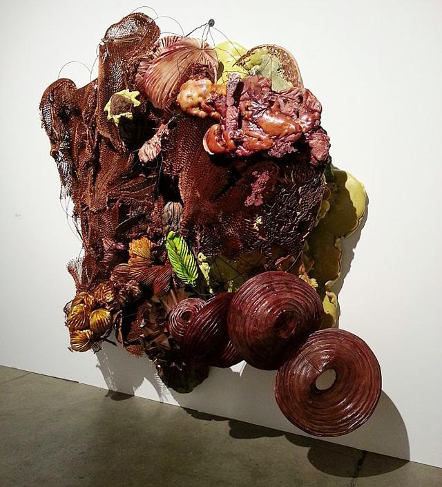 A Judy Pfaff wall sculptureat Carl Solway Gallery