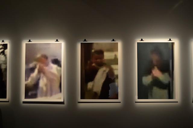 "Rabih Mroue, ""The Fall of a Hair, Part 3: Blow up"" (2012), photographs, text, installation view at dOCUMENTA (13) (via sfeir-semler.com)"