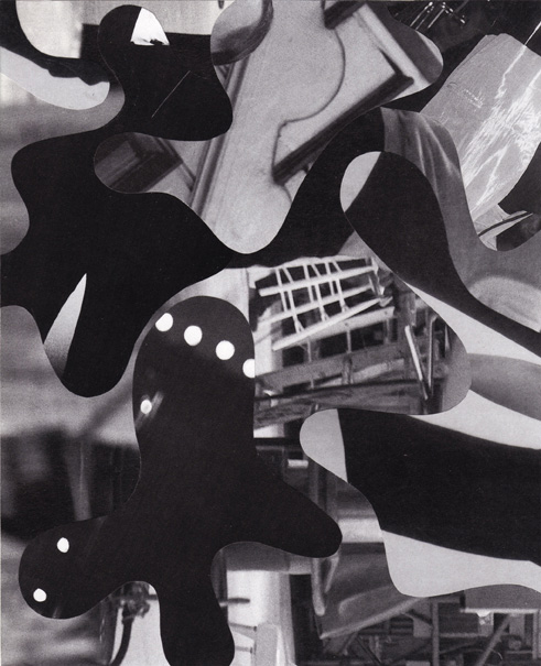 """Tim Spelios, """"Not Necessarily"""" (2010), collage, 8"""" x 7"""" (via timspelios.com)"""