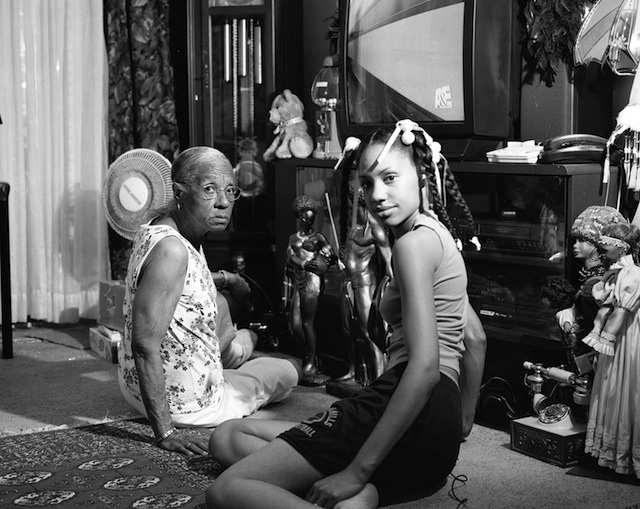 """LaToya Ruby Frazier, """"Grandma Ruby and Me"""" (2005), 20 x 24 inches. Silver Gelatin Print, courtesy of the artist and Galerie Michel Rein, Paris"""