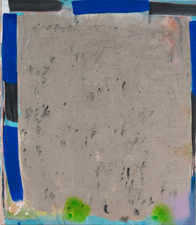 """Allison Miller, """"Magnet"""" (2013), oil, acrylic and dirt/canvas, 30 x 26 in."""