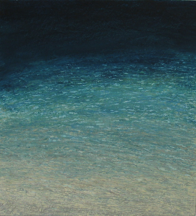 """Pat de Groot, """"Sand and Water"""" (2006), oil on board, 12""""x11"""""""