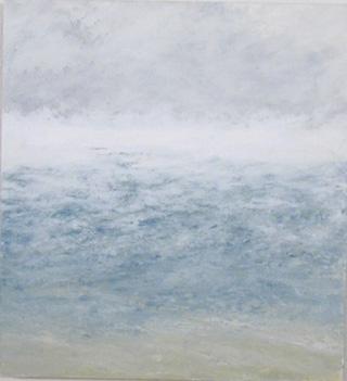 """Pat de Groot, """"Seasmoke 2"""" (2005), oil on board,12"""" x 11"""""""