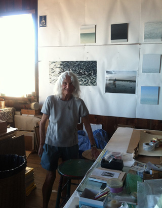 Pat de Groot in her studio (click to enlarge) (photo by the author for Hyperallergic)