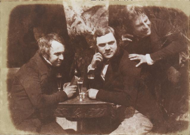 Edinburgh Ale photograph from 1844, salted paper print from paper calotype negative (via Metropolitan Museum of Art)