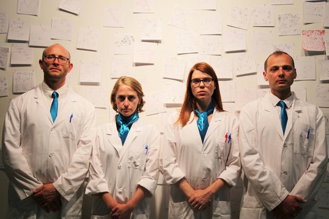 IPA Team shot -- Photo credit: Steven Dufala. Pictured from left to right: Andrew  Goldberg, Emily Rea, Liza  Wade Green, Radoslaw Konopka