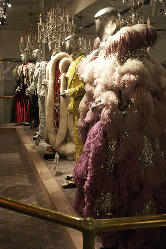 Costumes in the Liberace Museum (photograph by Christine Wang/Flickr user)