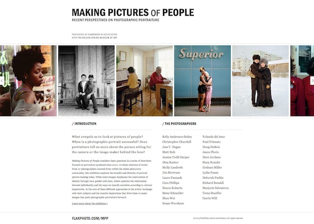 A screenshot of Making Pictures of People. All images courtesy Andy Adams at FlakPhoto.
