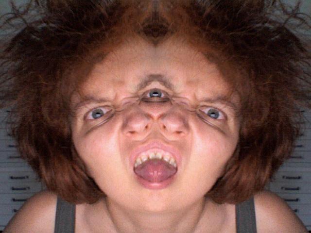 Double-headed selfie by Tamara Tornado