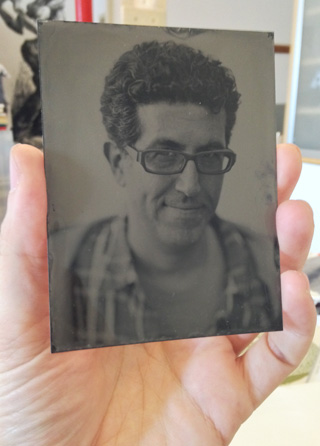 My tintype portrait by Jeffrey Berliner at the Center for Alternative Photography.
