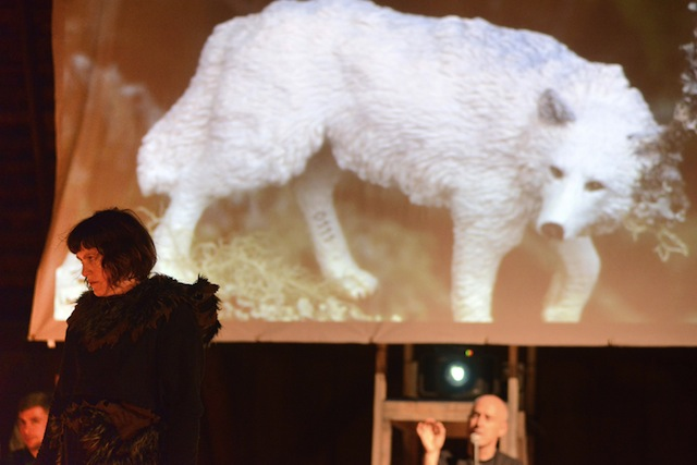 """WOLF performance in """"The Unreliable Bestiary"""" (2013). Image courtesy of Deke Weaver."""