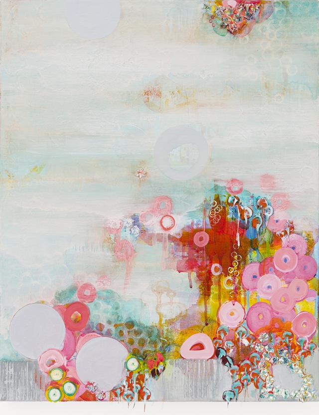 "Sarah Lutz, ""Bouganvillea"" (2012–13), 20 x 16 inches, oil on canvas"