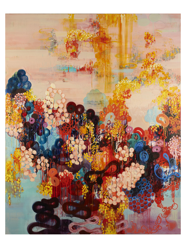 """Sarah Lutz, """"Macaroon"""" (2011), 60 x 48 inches, oil on linen"""