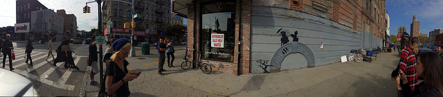 The Graham Avenue Banksy in context (click to enlarge)