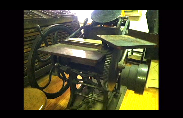 Here's the 120-year-old antique letterpress that Meekling wants to purchase! All photos via the Kickstarter campaign