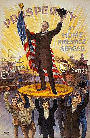 Campaign poster showing William McKinley, circa 1890s. (Source: Library of Congress