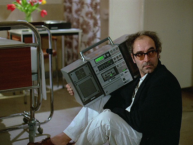 """Godard playing the institutionalized Oncle Jeannot in """"Prénom Carmen"""""""
