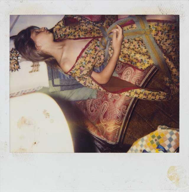"Balthus, ""Untitled"" (c. 1990–2000), color polaroid, 4 x 4 in (10.2 x 10.2 cm) (©Harumi Klossowska de Rola) (courtesy Gagosian Gallery)"