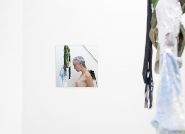 "Documentation of Donna Huanca's ""Scrying Threats"" performance/installation at Queer Thoughts Gallery, Chicago (image courtesy of the artist and Queer Thoughts)"