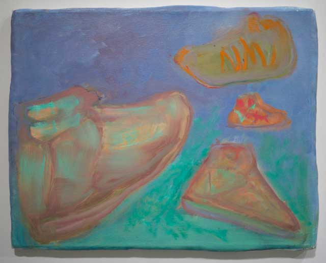 "George Gittins, ""Untitled (shoes 1)"" (2013) (photo courtesy of 106 Green)"