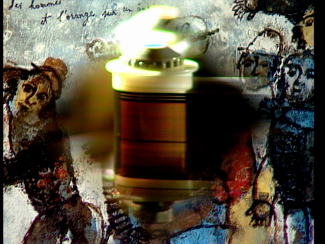 "Jean-Luc Godard, film still from ""Histoire(s) du cinéma"" (1988–98) (all film stills by the author for Hyperallergic)"
