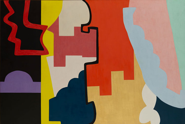 "Shirley Jaffe, ""The Black Line"" (1974)"