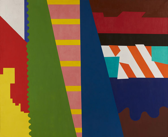 """Shirley Jaffe, """"The First Diagonal"""" (1973), oil on canvas (72.5 x 88.5in) (184.15 x 224.79cm) (All images courtesy Tibor de Nagy Gallery)"""