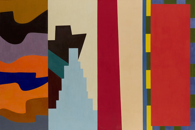 """Shirley Jaffe, """"Upside Down - New York"""" (1974), oil on canvas (125 x76.75in) (130 x 195cm)"""