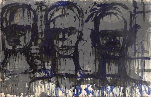 Lester Johnson, Three Transparent Heads (1961)