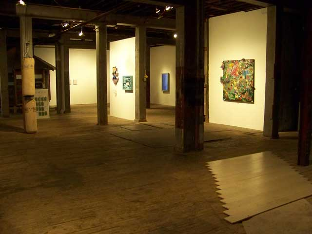 "Installation view, "" , , , "" the third Minnesota biennial at the Soap Factory (all photos by the author for Hyperallergic)"