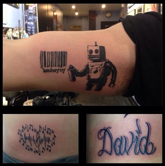 One Brooklynite already got a copy of Banksy's Coney Island stencil on his arm. (via Instagram)