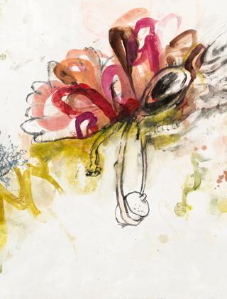 """Detail of Christiansen's """"Nut"""" (nd), oil on plaster (via the artist's website)"""