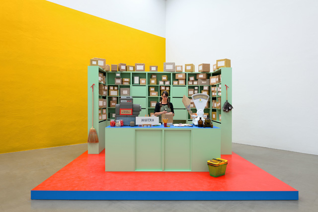 "Christine Hill, ""Small Business Model"" shown at Galerie EIGEN+ART Leipzig, 2011 (photo © Uwe Walter Berlin)"