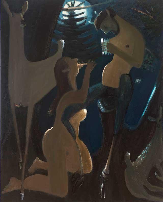 "Kyle Staver, ""Syrinx"" (2013), oil on canvas, 68 x 52 in (all images courtesy Tibor de Nagy)"