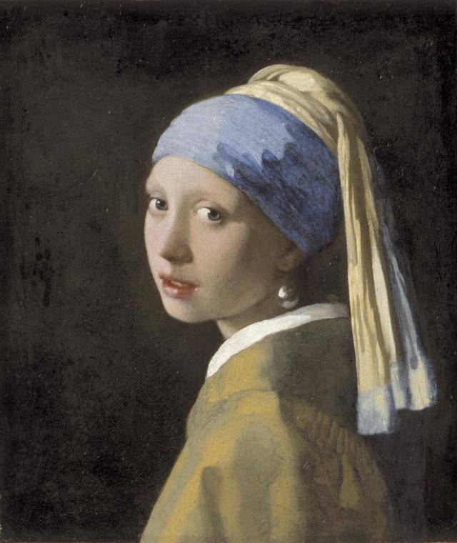 """Johannes Vermeer, """"Girl with a Pearl Earring"""" (c. 1665), oil on canvas, 44.5 x 39 cm, Mauritshuis, The Hague (via frick.org)"""