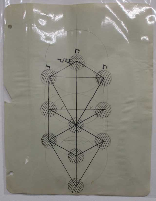 A Lionel Ziprin drawing of the Heavenly Tree (photo by Eve Aschheim)