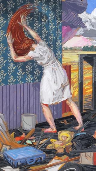 "Detail of Brian Adam Douglas, ""A Sort of Homecoming"" (2011)"
