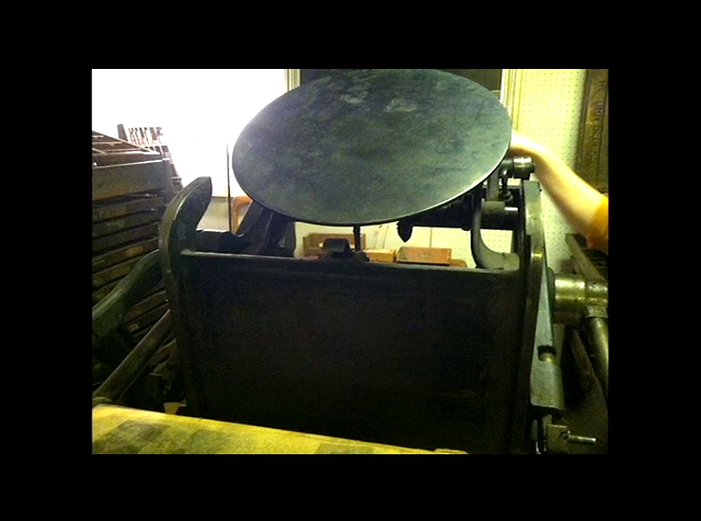 Another shot of the purrdddy 120-year-old antique letterpress