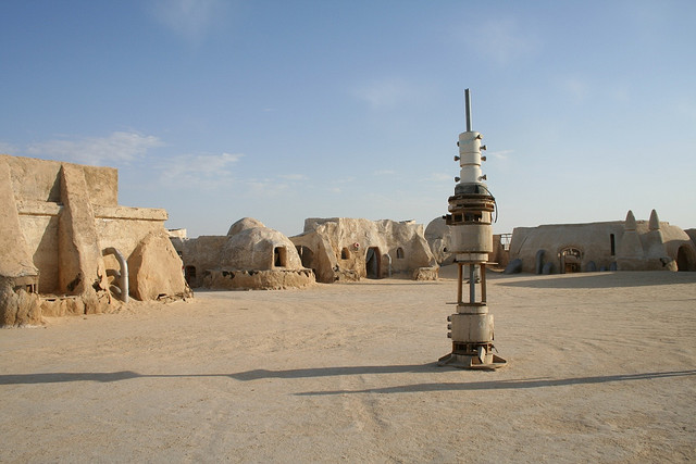 The remains of the Star Wars set in Tunisia (photograph by Camila/Flickr user)