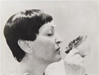 "Meret Oppenheim, ""Self-Portrait with Fur-cup"" (1967) (via Mutual Art)"