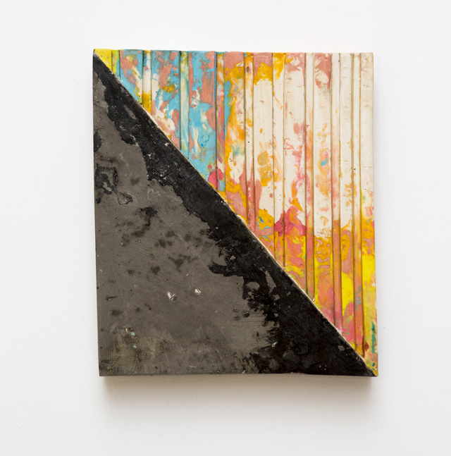 Carolyn Salas, Untitled, cast hydrocal and pigment, 10 x 12 x 1.5 inches. Courtesy of Panepinto Galleries.
