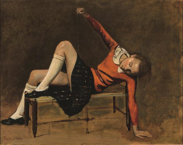 7._Thérèse on a Bench Seat(1939)_Balthus