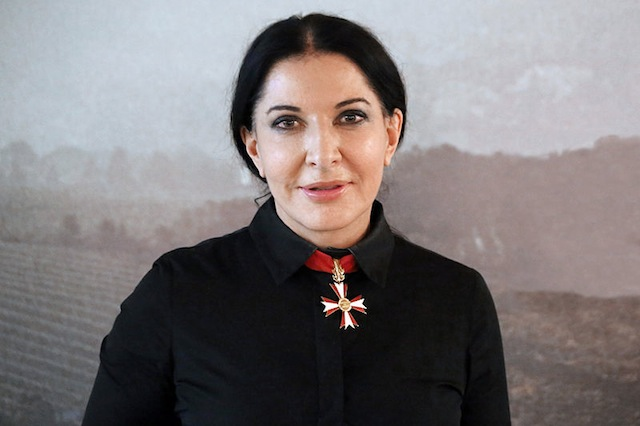 Marina Abramović (with the Austrian Decoration for Science and Art she recieved in 2008) at the screening of Marina Abramović: The Artist Is Present during the Vienna International Film Festival 2012, Gartenbaukino. Imavge via Wikipedia Commons.