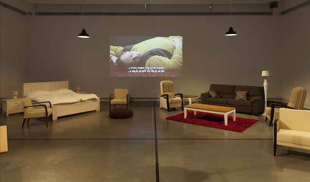 """Installation view, Einat Amir's """"Our Best Intentions"""" at Petach Tikva Museum of Art (photo by Elad Sarig)"""