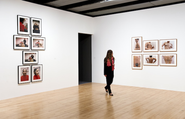 """Ana Mendieta, """"Untitled (Facial Hair Transplant)"""" (1972) and """"Untitled (Glass on Body Imprints)"""" (1972) at 'Ana Mendieta Traces' exhibition, Hayward Gallery 2013 (all images courtesy Hayward Gallery)"""