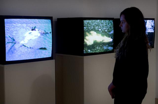 Installation view of Ana Mendieta's films at Hayward