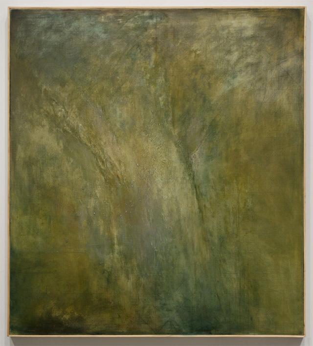 "Jake Berthot, ""Untitled (Tree)"" (2013), oil on linen"
